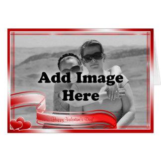 Kärlekcitationstecken och fotomall hälsningskort