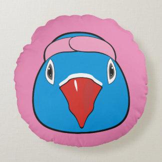 Kärlekfågel med huvudbindeln rund kudde