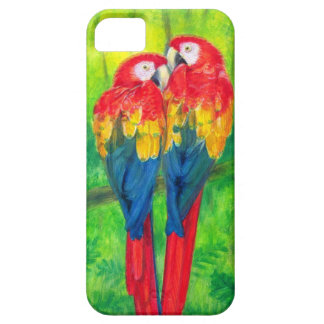 KärlekFågelmacawen mekaniskt säga efter fodral för iPhone 5 Case-Mate Skydd