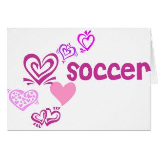 Kärlekfotboll Hälsningskort
