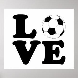 Kärlekfotbolltryck/affisch Poster