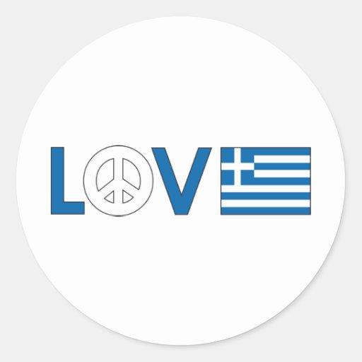 Kärlekfred Grekland Klistermärken