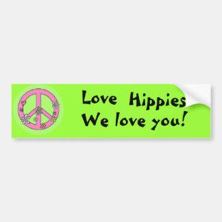 KärlekHippies! Bildekal