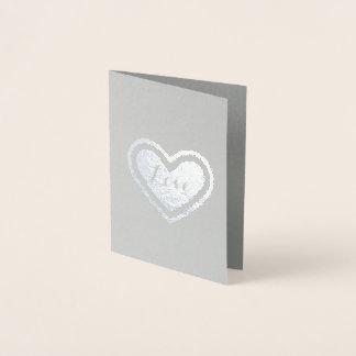 Kärlekhjärta Folierat Kort