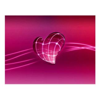 kärlekhjärta för lilor 3d vykort