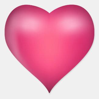 kärlekhjärta för rosor 3D Hjärtformat Klistermärke