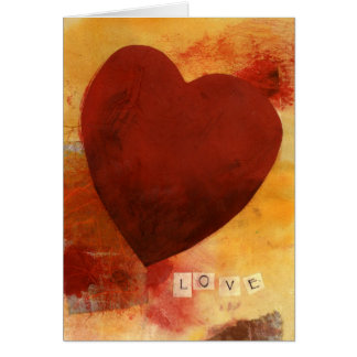 Kärlekhjärta Hälsningskort