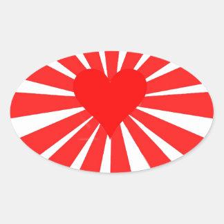 Kärlekhjärta Ovalt Klistermärke