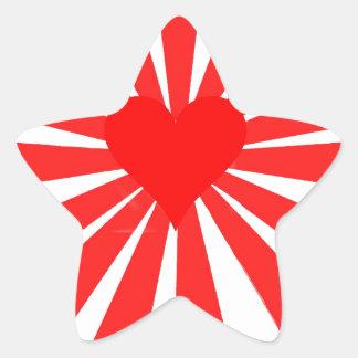 Kärlekhjärta Stjärnformat Klistermärke