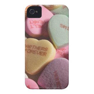 Kärlekhjärtablackberry fodral iPhone 4 fodral