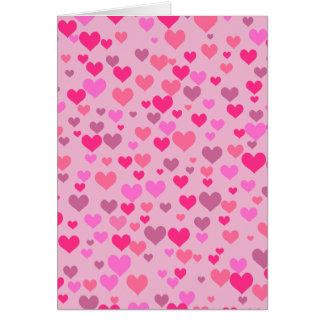Kärlekhjärtor Hälsningskort