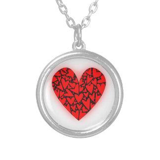 Kärlekhjärtor Silverpläterat Halsband
