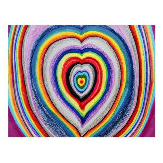 Kärlekhjärtor som utvidgar vykort