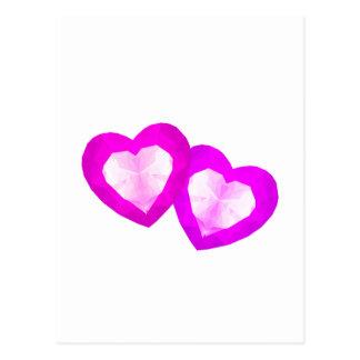 Kärlekhjärtor Vykort