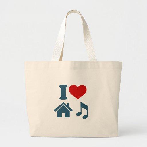 Kärlekhusmusik Tote Bags