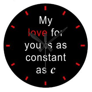Kärlekkonstant som C Stor Klocka