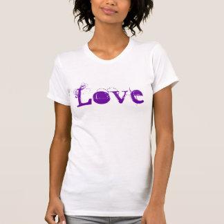 Kärlekliv i vintagevitlilor och orange t shirt