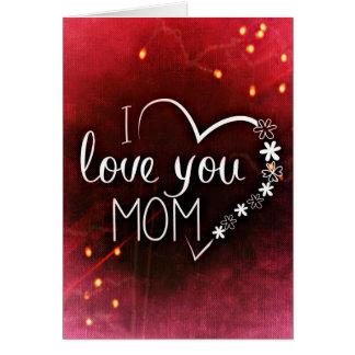 Kärlekmors dagkort hälsningskort