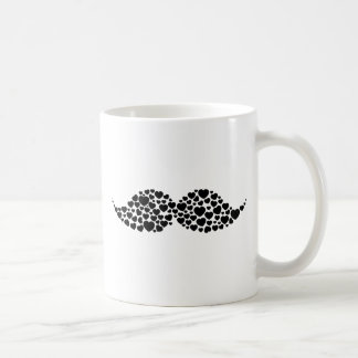 Kärlekmustaschhjärtor Kaffe Kopp