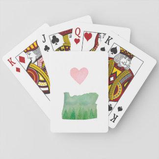 KärlekOregon statlig gullig hjärta Spelkort
