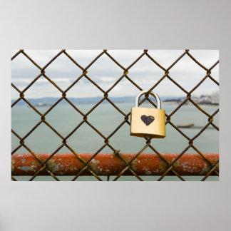 kärlekpadlock poster