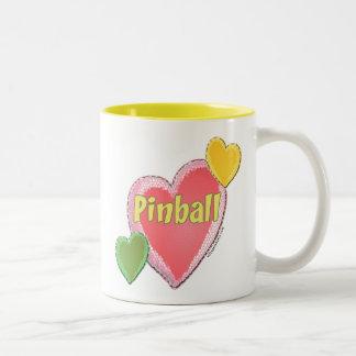 KärlekPinballhjärtor Två-Tonad Mugg