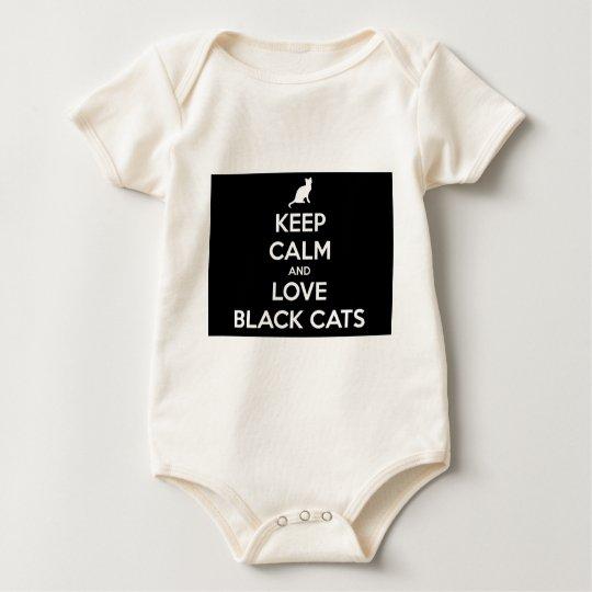 Kärleksvarta katter bodies för bebisar