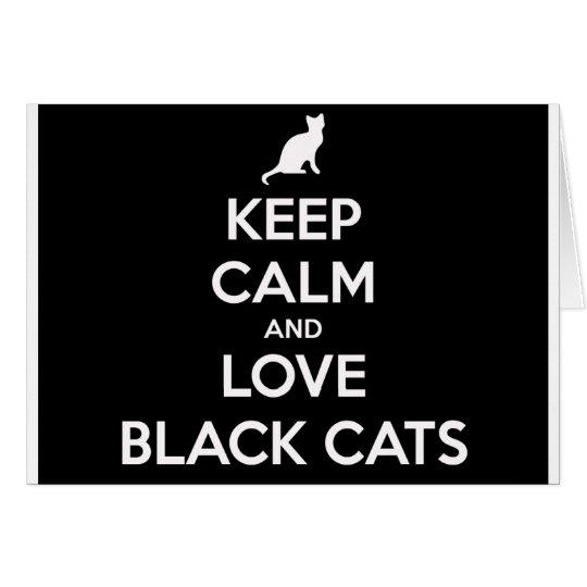 Kärleksvarta katter hälsningskort