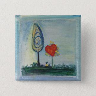 Kärlekträdmålning knäppas standard kanpp fyrkantig 5.1 cm