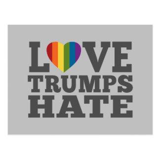 Kärlektrumfhat - Anti Donald Trump Vykort