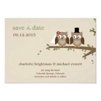 Kärlekugglor sparar de datera/Wedding meddelandena 12,7 X 17,8 Cm Inbjudningskort
