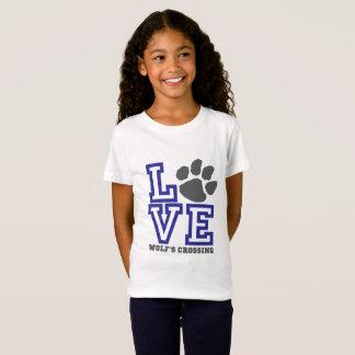 KÄRLEKvarg korsning flickor Tee Shirt