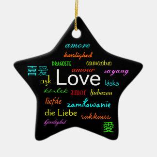 Kärlekvärld runt i svart II Julgransdekorationer