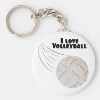 Kärlekvolleyboll Rund Nyckelring