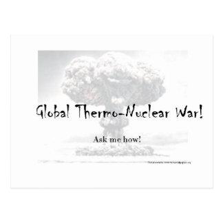Kärn- krigdebattprodukter vykort