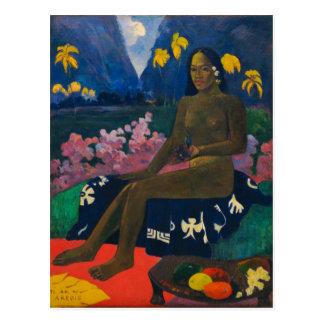Kärna ur av Areoien vid Gauguin Vykort