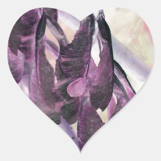 Kärna ur samla i en klunga hjärtformat klistermärke