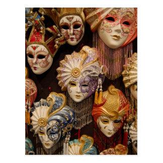 Karnevalet maskerar i Venedig Vykort