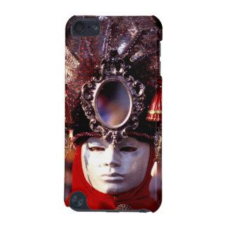 Karnevaltecken som ha på sig en hatt med spegeln iPod touch 5G fodral