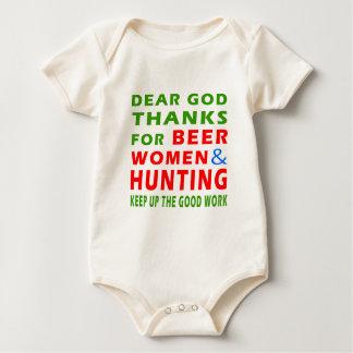 Kärt gudtack för ölkvinnor och jakt body för baby