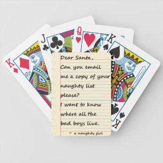 KÄRT SANTA BREV från en stygg flicka Spelkort
