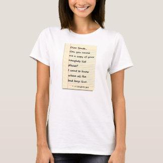 KÄRT SANTA BREV från en stygg flicka T-shirt