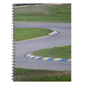 Kart spårar anteckningsbok med spiral