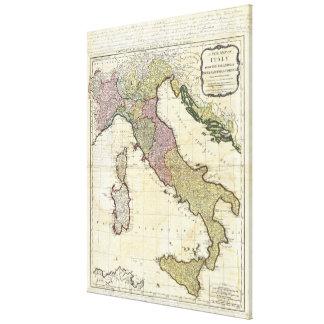 Karta 1794 för Jean Baptiste BourguignonD'Anville  Canvastryck
