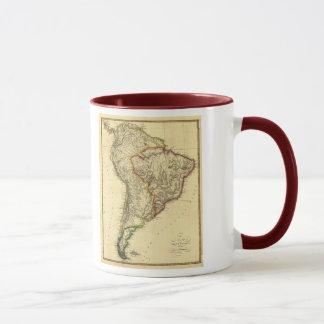 Karta 1817 av South America Mugg