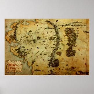 Karta #3 för MITTET EARTH™ Poster