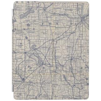 Karta 4 för Wisconsin cykelväg iPad Skydd