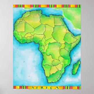 Karta av afrika 3 poster