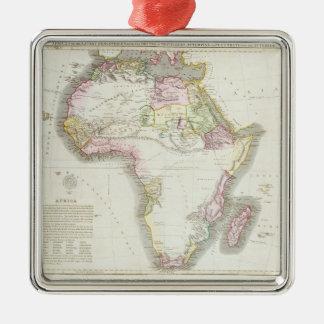 Karta av afrikan, 1821 julgransprydnad metall