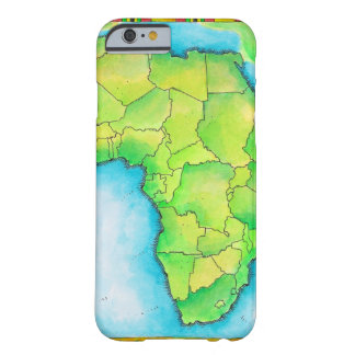 Karta av afrikan barely there iPhone 6 fodral